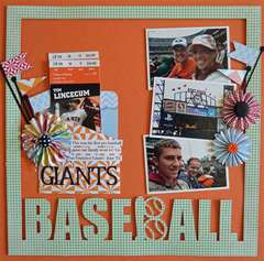 Giants Baseball by Guiseppa Gubler