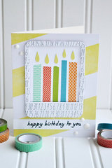 *We R* Washi Tape Candles Card