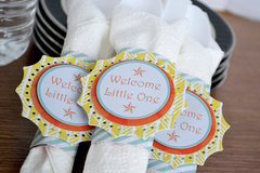 *We R* baby boy shower decor