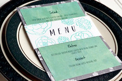 *We R* Letterpress Wedding Menu Card