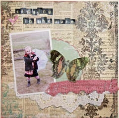 Singing in the Rain *Bo Bunny Layout Challenge Friday*