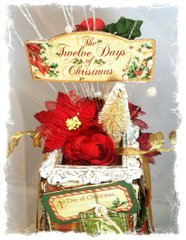 The Twelve Days of Christmas  Gift Box Decor ~Swirlydoos Kit Club