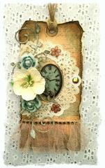 Clock Tag **SWIRLYDOOS KIT CLUB**