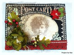Vintage Christmas Card ~Swirlydoos Kit Club~