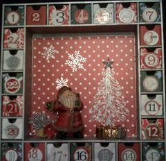 Vintage Red & Silver Advent Calendar