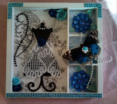 Black, White & Blue Shadowbox