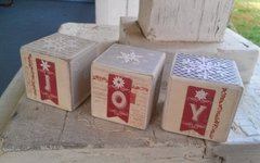 Christmas Wooden Blocks