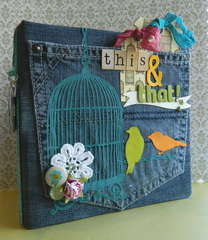 Recycled Jeans Mini Album