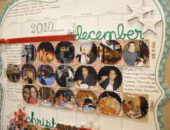 December Calendar Layout Close Up