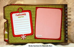 Basically Bare / Bella Blvd Blog Hop 'Christmas Fun' Mini Album Inside Front Cover