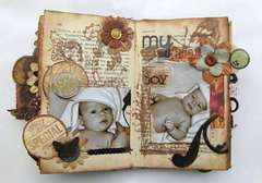 Altered book (mini-album) 6