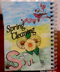 1st Art Journal Page-Spring Cleaning for the Soul