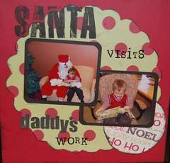 Santa visits Daddy's work