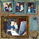 Thomas, Leea at computer