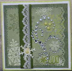 Green snowflake card