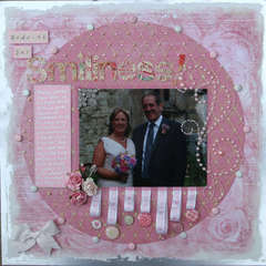 Spring Splurge - PINK challenge - Wedding Day Smiliness!