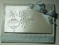 Embossed Ornament Card