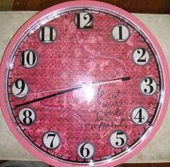 My very pink clock!