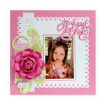 Go Ahead Be Fancy Scrapbook Page byBeth Reames