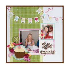 Hello Cupcake Scrapbook Page by Debi Adams