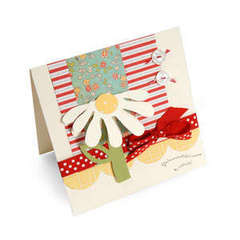 Happy Birthday Flower Flip-up Card by Debi Adams