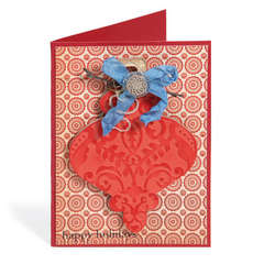 Happy Holidays Embossed Ornament Card by Deena Ziegler