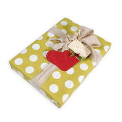 Embossed Stocking Gift Tag by Deena Ziegler