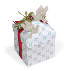 Bird Embellished Gift Box by Cara Mariano