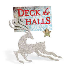 Deck the Halls Reindeer by Cara Mariano