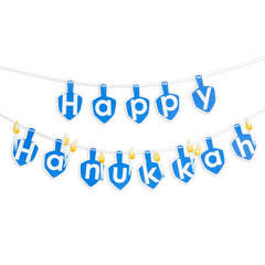 Hanukkah Banner by Debi Adams