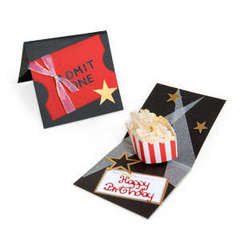 Admit One Popcorn Card by Debi Adams