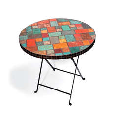 Table w/Embossed Tiles by Debi Adams