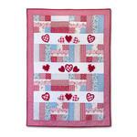 Vintage Valentine Quilt by Debi Adams