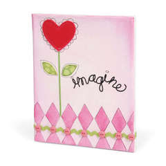 Imagine Heart Flower Canvas