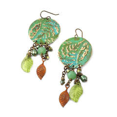 Spring Ferns Earrings by Jess Italia Lincoln