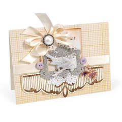 Embossed Scallop Edging Card by Debi Adams