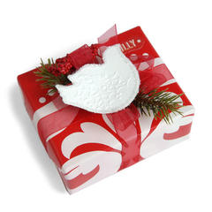 Embossed Bird Gift Topper by Deena Ziegler