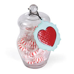 Holiday Heart Candy Jar by Deena Ziegler