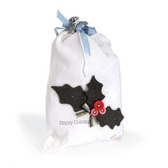 Happy Holidays Holly Gift Bag by Deena Ziegler