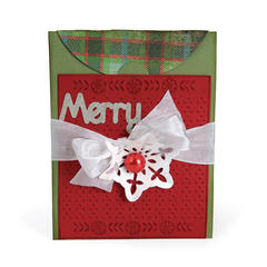 Merry Card with Flap by Deena Ziegler