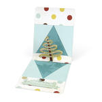 Ribbon Tree Stand Up Card by Cara Mariano
