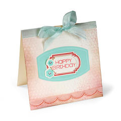 Happy Birthday Layered Labels by Cara Mariano