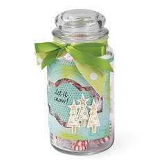 Let Ut Snow Candy Jar by Cara Mariano