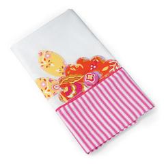 Flower Tea Towel by Debi Adams