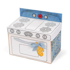 Vintage Oven Shaped card by Deena Ziegler