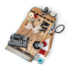 Sewing Edge Clipboard Tag by Debi Adams