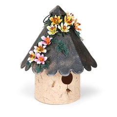 Mini Lilies Embellished Bird House by Susan Tierney-Cockburn