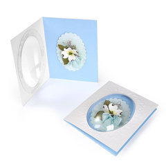 Dogwood Flower Dome Card by Beth Reames