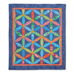Circle of Flowers Quilt by Cheryl Adam, Guest Quilter