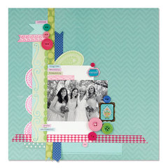 Bridesmaids Scrapbook Page by Debi Adams